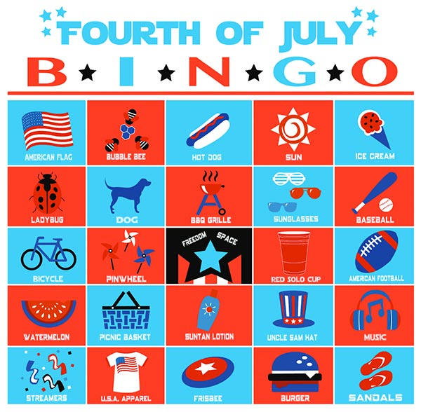 4th of July Bingo Sample
