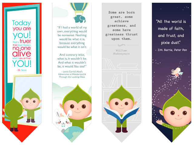 Famous Author Bookmark Free Printables