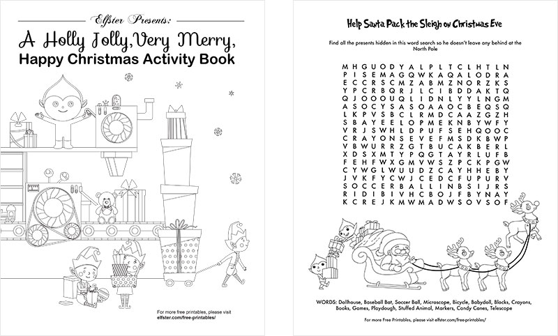 pages from holiday activity book - Free Printable Christmas Activity Pages