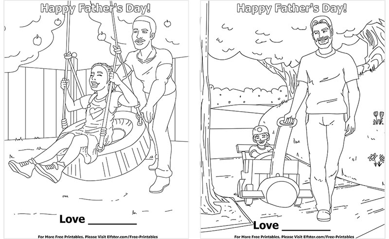 Father's Day Free Printable Coloring Page