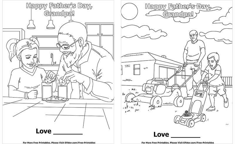 Father S Day Free Printable Coloring Page Downloadable Online