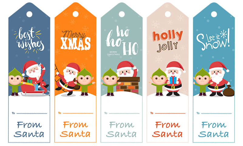 Free secret santa gift tags in printable pdf no registration holiday from santa gift tags free printable negle Gallery