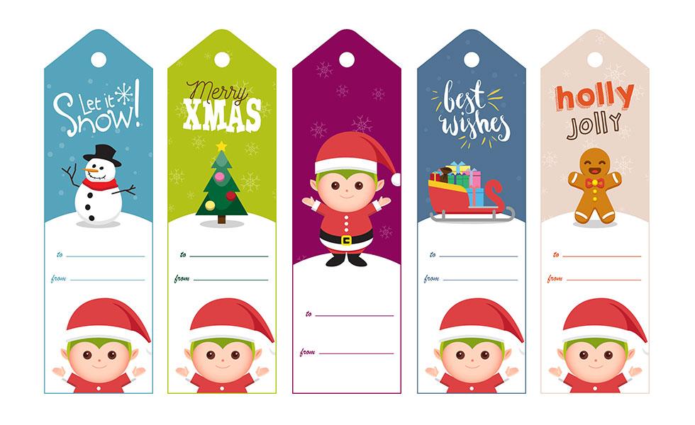 graphic regarding Printable Holiday Tags referred to as Xmas Hanukkah Toward/In opposition to Present Tag No cost Printable Elfster