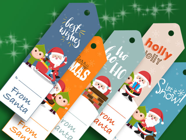graphic about Printable Santa Gift Tags identify No cost Solution Santa Present Tags Inside of Printable PDF. No