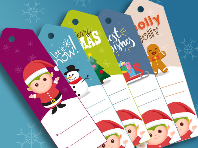 image relating to Free Printable Santa Gift Tags called Xmas Hanukkah In the direction of/In opposition to Present Tag Totally free Printable Elfster