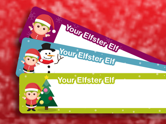 Elfster Free Printables Holiday Return Address Labels