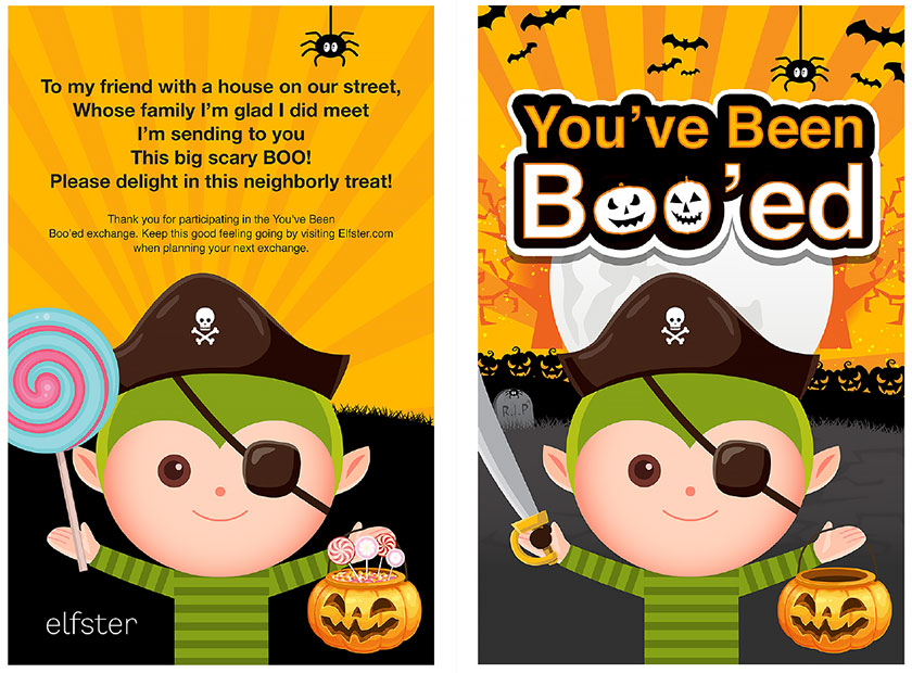 photograph relating to You've Been Booed Free Printable referred to as Elfsters Free of charge Halloween Downloadable Printable PDFs Yourself